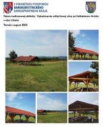 Oddychová zóna pri futbalovom ihrisku v obci Uňatín